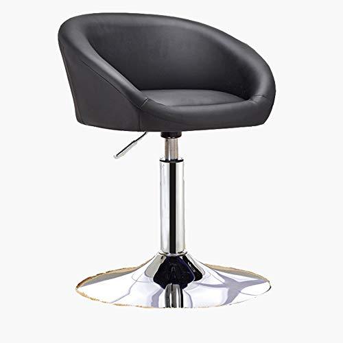 WHOJA Silla de Bar Multifunción Girar Cojín de Cuero Impermeable Puede ser levantado y bajado 40-55cm Taburetes Sillas Conjunto (Color : Black)