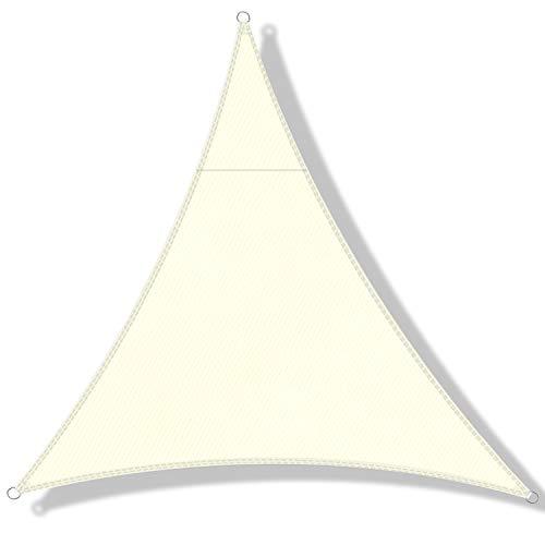 DEXIAO Toldo Vela de Sombra, Poliéster Toldo Vela Protección Rayos UV Impermeable Resistente para Patio jardín pérgola Patio Trasero (2×2×2m, Crema)