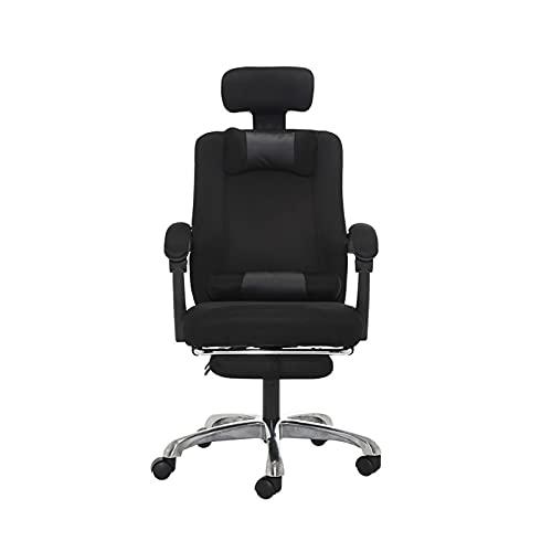 Sedia da Computer, Sedia da Ufficio ergonomica in Rete reclinabile con Schienale Alto, Sedia da scrivania con Schienale Alto con poggiapiedi e poggiatesta