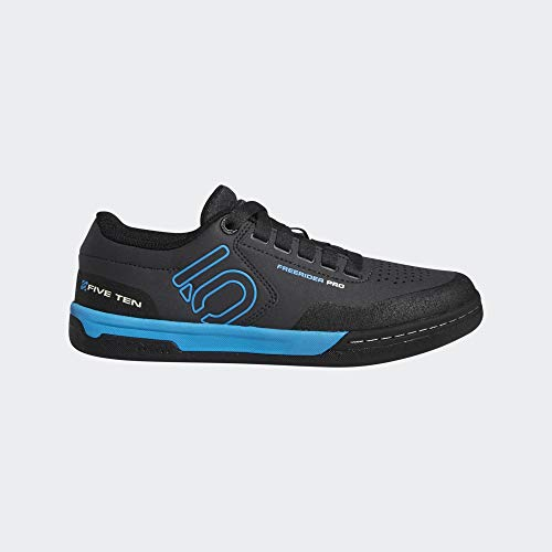 Five Ten Scarpe Ciclismo Freerider PRO Donna, Carbon-Shock Cyan-Core Black, UK 7
