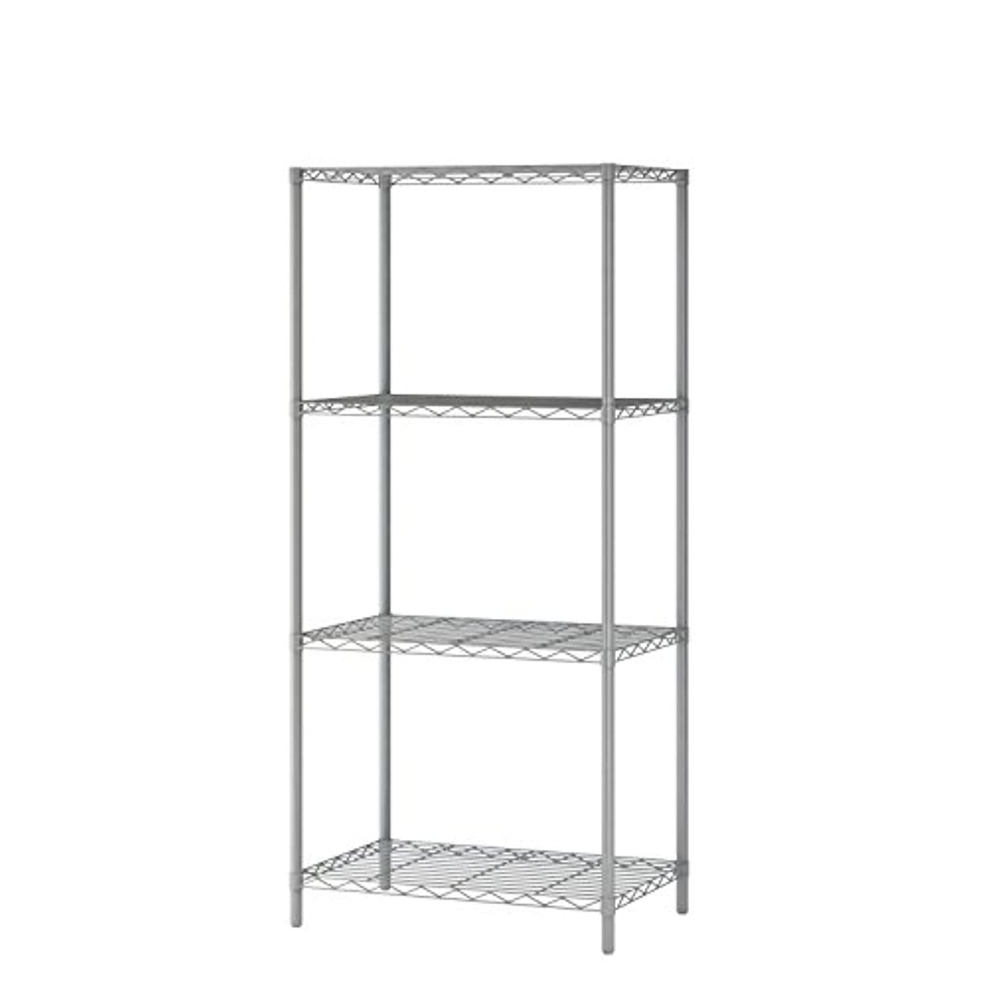 """Homebi 4-Tier Wire Shelving 4 Shelves Unit Metal Storage Rack Durable Organizer Perfect for Pantry Closet Kitchen Laundry Organization in Grey,21""""Wx14""""Dx46.5""""H"""