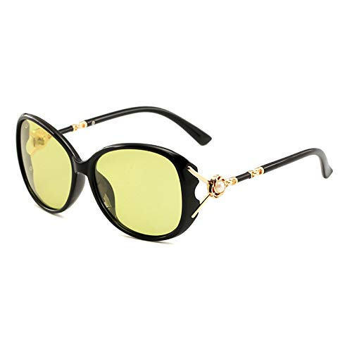 JINZUN Gafas de Sol de Moda con Personalidad, Gafas de Sol de protección UV de Cara Redonda, Marco Grande de Moda, Gafas UV