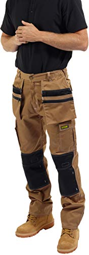 SITE KING Mens Multi Pocket Cargo Combat Work Trousers Size 30 to 40 with...