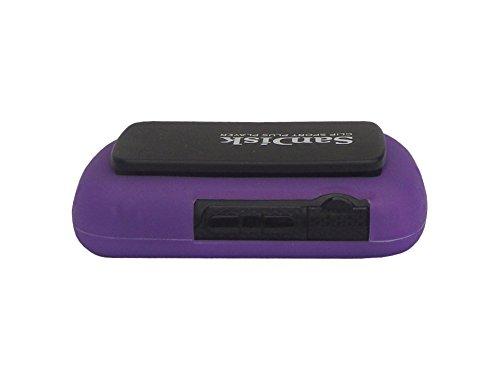 Sandisk Sansa Clip Sport Plus Silicone Case - Slim Fit , Anti-Slip Protective Soft Rubber Silicone Skin Cover Case for Sandisk Sansa Clip Sport Plus SDMX28 MP3 Player 2016 Release - Purple Iris