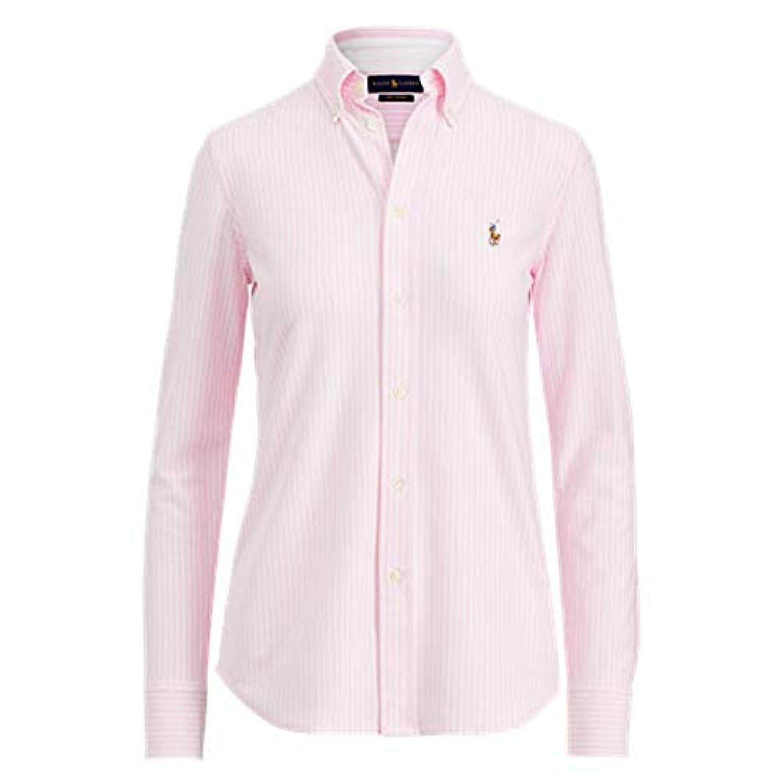 RALPH LAUREN(ラルフローレン) ストライプオクスフォードボタンダウンシャツ(Pink) ブラウスCUSTOM FIT【S/M】 [並行輸入品]