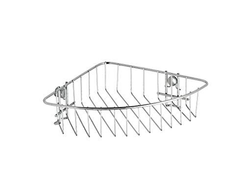 WENKO Eckablage Classic - Eckregal, Eckwandablage, Stahl, 26.5 x 6 x 19.5 cm, Chrom