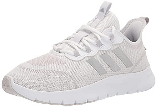 adidas Women's Vario Sport Running Shoe, White/Silver Metallic/Grey, 7