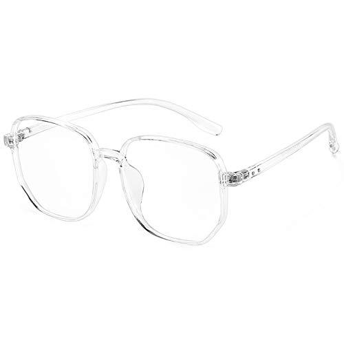 Bias&Belief Gafas de Bloqueo de luz Azul Gafas para Juegos de computadora TR Marco Grande con Montura de anteojos de Cara Redonda Gafas Lectura Anti-Fatiga Visual para Mujeres y Hombres,D