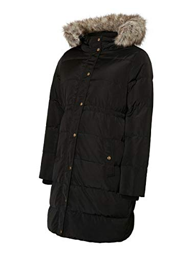 MAMALICIOUS Mlasta Down Coat abrigo premama, Negro (Black Black), X-Large para Mujer