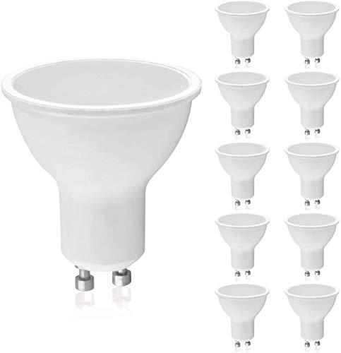 Panorama24 LED GU10 SET 10 Stück 2 W mit einer Leuchtkraft von 19 W, warmweiß (3000 K), 150 lm, 110 ° Abstrahlwinkel, A+, Glühbirne, Birne, Halogen, Lampe, Spot, Strahler