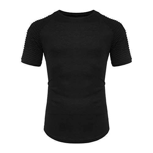 Coshow Fitness Stringer Herren - Funktionelle Sport Bekleidung - Geeignet Für Workout Training - T-Shirt , Schwarz , S