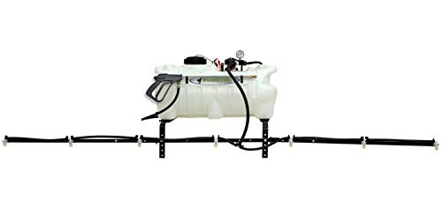 Workhorse ATV2507 25 Gallon Deluxe ATV Sprayer – White, Adjustable 7 Nozzle Heavy Duty Boom Sprayer, 140 in. Coverage