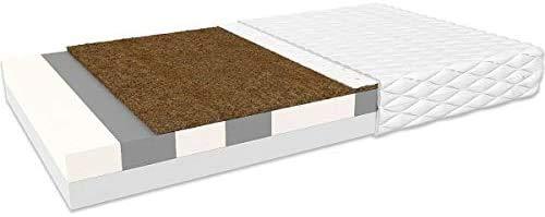 Oliveo Materasso Fermo in Fibra di Cocco HR Soft Sensation Alto 14 cm H3 / H4 Materasso Extra Comfort Memory Foam Struttura Extra-Ergonomica con Materasso (90 x 200 cm)