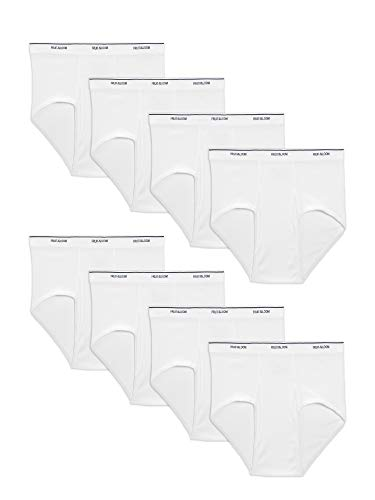 Fruit of the Loom Men's Basic Brief Multipack, White (8 Pack), 2X-Large