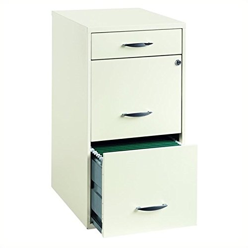 Cooper 3 Drawer Steel File Cabinet in White