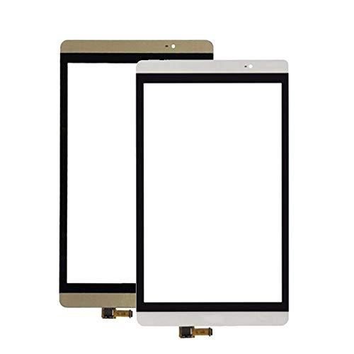 Kit de repuesto de pantalla táctil digitalizador de cristal para Huawei Mediapad M2 8.0 M2-801L M2-802L M2-803L Kit de reparación de pantalla (color: dorado)