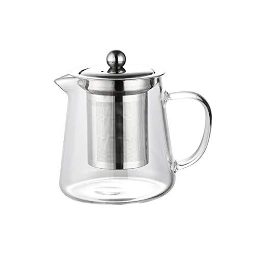 VKPLITE 450ml Glass Teapot with Removable Infuser, Stovetop Safe Tea Kettle