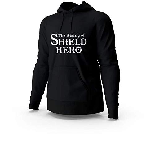 Blusa Moletom Casaco The Rising of The Shield Hero Anime Unissex Cinza e Preto Tamanho:M