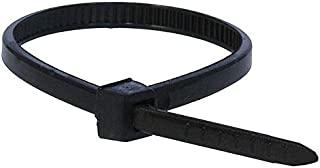 Monoprice Cable Tie 4 inch 18LBS Set of 100 [Black]