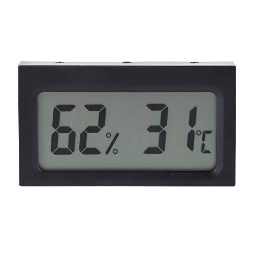 Sorand Digital Termómetro Higrómetro, Portátil Termómetro 0~50 ℃ 25% HR~98% HR Mini Interior Al Aire Libre LCD Temperatura Humedad Monitor para Invernadero Coches Casa Oficina