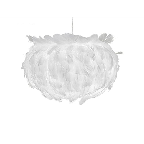 LEDMOMO Suspension contemporaine Plafonnier Plume Blanc