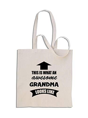 This is What an Awesome Grandma Looks Like - Bolso 38cm x 42cm - 32.5cm Mango
