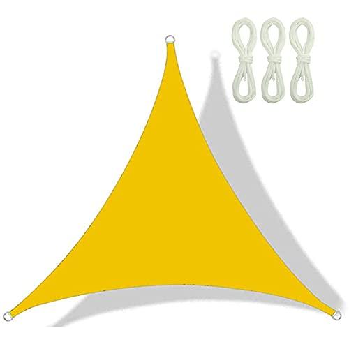QINZC Toldo Vela De Sombra Triangular 2x2x2m Tela Vela Parasol Impermeable E Prueba De Viento 90% Resistente UV para Patio, Exteriores, JardíN,Amarillo