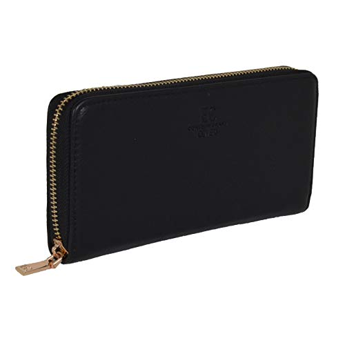 Coveri Women's Faux Leather Wallet with Zip Closure Gift Packaging Size: One Size