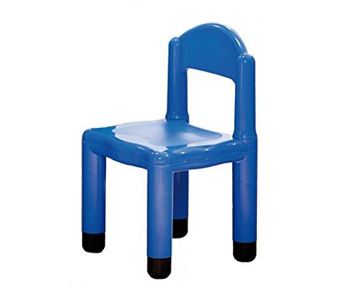 Italveneta Didattica 90014 Kinderstoel van kunststof, blauw met punt voor poten van 5 cm