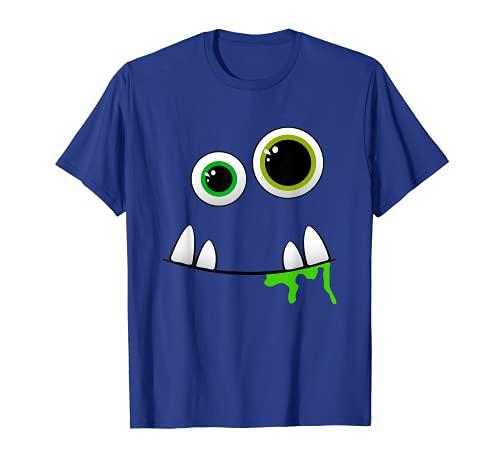 Camiseta de regalo de disfraz de Monster Face para Halloween Camiseta