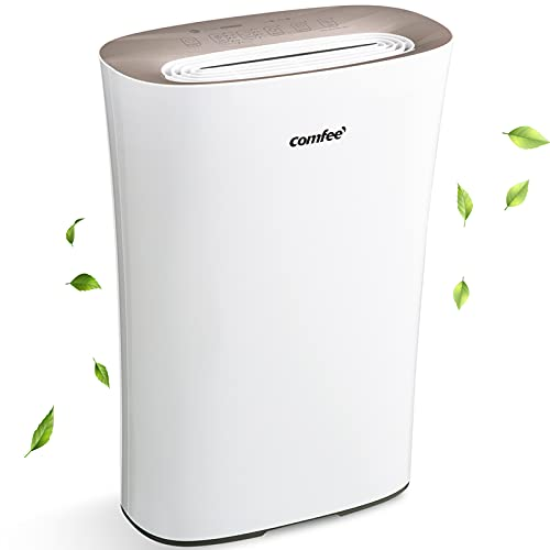 COMFEE' Air Purifier with True HEPA Filter, CADR 210m³/h for Home Large Room 45m², 4 Speeds, 8H Timer & Quiet Sleep Mode, Intelligent Air Cleaner for Allergies, Pollen, Smoke, Odors, Dust & Pet Dander