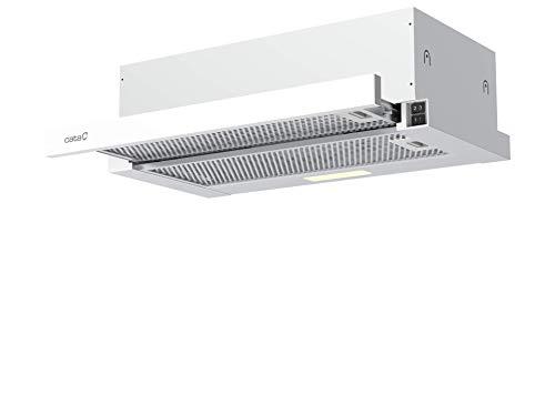 Cata Campana extractora | Modelo ATH 41GWH | Campana telescópica | 3 niveles de extracción | 60 cm de ancho | Acabado blanco | Clase de eficiencia energética B