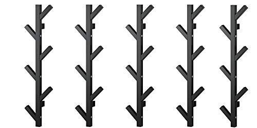 """Ikea TJUSIG - Colgador (5 unidades, 30 ¾"""", color negro)"""