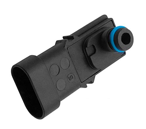 MAP Sensor, Saugrohrdrucksensor Kompatibel mit Renault Kangoo Clio Espace Fluence Laguna Master Megane Laguna Logan Scenic Twingo Trafic Wind 2508500QAA 5WK9881,Schwarz