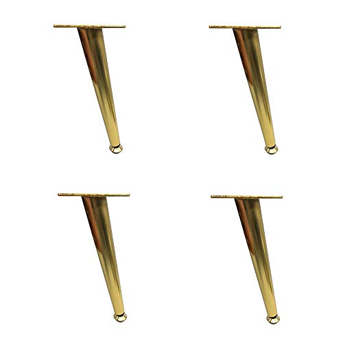 Negro mate / titanio dorado patas de muebles ajustables sopo