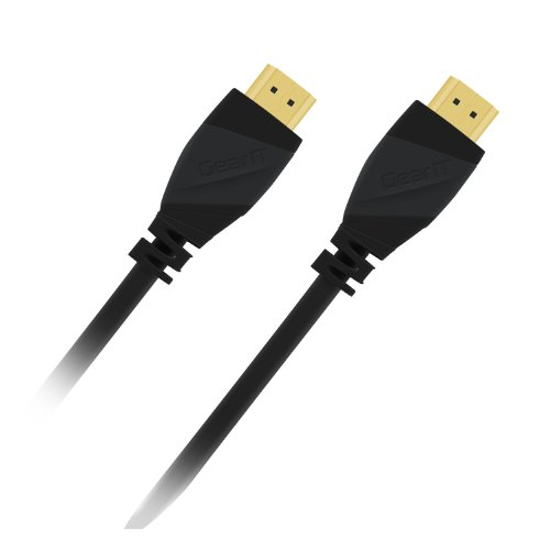 6 Ft HDMI Cable, GearIT Pro Series HDMI Cable 6 Feet High Speed Ethernet 4K Resolution 3D Video and ARC Audio Return Channel HDMI Cable, Black 6' Pro Series A/v Cable