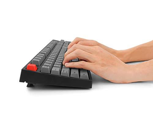 アーキサイトARCHISITEMaestroFL日本語JIS配列カナ有静音赤軸メカニカル有線キーボードUSB-A/USB-C対応Win/Mac対応108キーAS-KBM08/SRGBA