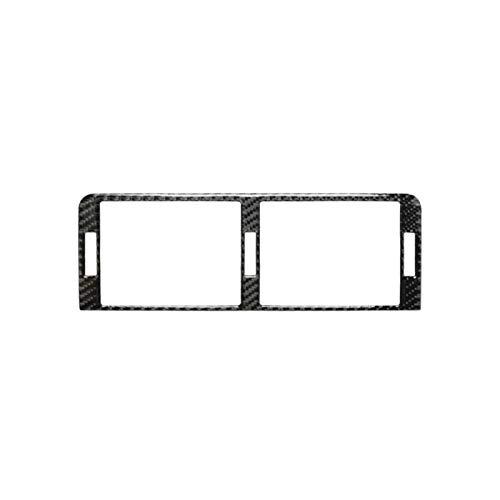 SHOUNAO Black Air String Trim Pegatina Interior Calcomanía del automóvil Ajuste para BMW 3 Series E46 98-05 1pc