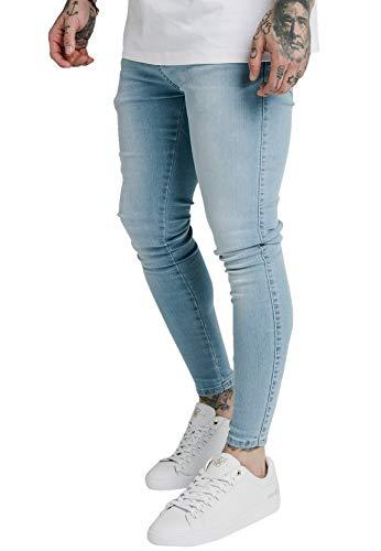 Sik Silk Jeans Herren Skinny Denims SS-19348 Light Blue, Größe:XS