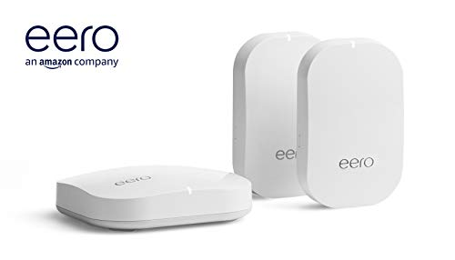 Amazon eero Pro mesh WiFi system (1 Pro + 2 Beacons) 24 Whole-home WiFi system - The Amazon eero Pro mesh WiFi system (3 eero Pros) replaces the traditional WiFi router, WiFi extender, and internet booster by covering a 5+ bedroom home with fast and reliable internet powered by a mesh network. eero 2nd generation - With the most intelligent mesh WiFi technology and powerful hardware, the eero 2nd generation WiFi system is 2x as fast as the original eero WiFi. Backwards compatible with 1st generation eero products. Cutting edge home WiFi - Unlike the common internet routers and wireless access points, eero automatically updates once a month, always keeping your home WiFi system on the cutting edge.