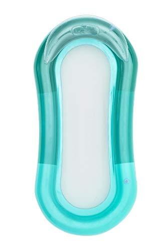 Brandsseller Relax - Colchoneta hinchable con malla para baño o piscina, con cabecera, color verde