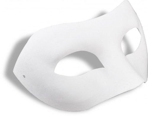 Meyco Hobby Augenmaske Zorro - Venezianische Maske weiß Pappmache zum Bemalen Dekorieren