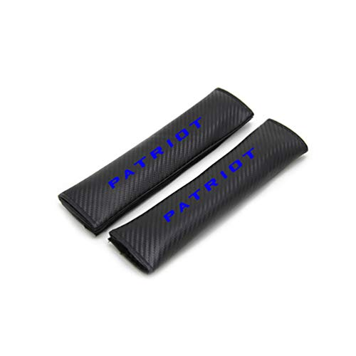 MFZTQ For JEEP Patriot Seat Belt Covers Shoulder Pads,Carbon Fiber Leather Belt Pads,Shoulder Protection Cover Seatbelts,Car Seat Belt Covers,Car-Styling,2pcs