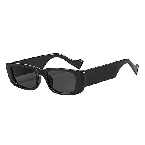 ZZOW Gafas De Sol Rectangulares Pequeñas A La Moda Populares De Ins para Mujer, Gafas De Sol De Color Jalea Vintage para Hombre, Gafas De Sol Cuadradas Uv400