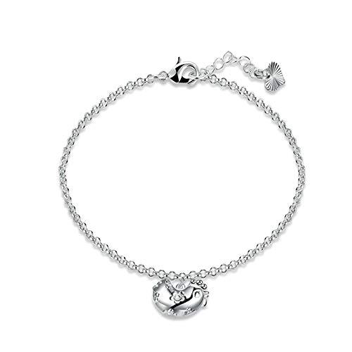 KnBob Charm Bracelet Silver Chicken Bracelet Silver Plated for Women