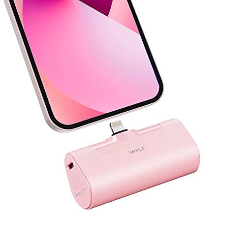 iWALK Power Bank 4500mAh, klein Tragbares Powerbank Tragbar und Kompakte Handy Ladegerät Mini Externer Akku Kompatibel mit iPhone 13,13 Pro Max,12,12 Mini,12 Pro,11,11 Pro Max, XS, XR, 8, 8 Plus,7, 6