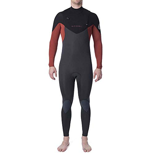Rip Curl Mens Dawn Patrol Warmte 4/3mm Chest Zip Wetsuit Holland Oranje - Easy Stretch Flash Lining