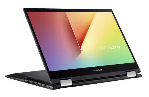 ASUS VivoBook Flip 14 TP470EA 35.5 cm (14 Zoll, FHD, IPS-Level, Touch) Convertible Notebook (Intel Core i5-1135G7, Intel Iris Xe Max graphics, 8GB RAM, 512GB SSD + 32GB Optane, Windows 10) Black