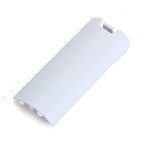 Générique Remplacement Couvercle de la Batterie pour Wii Manette sans Fil - Blanc