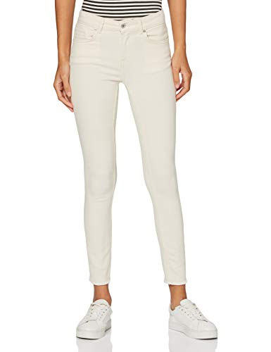 Only ONLBLUSH Life Mid SK AK RW DOT019 Noos Jeans, Crudo, XS / 32 para Mujer